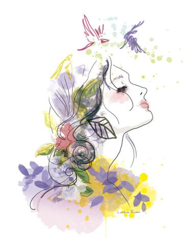 illustration profil de femme
