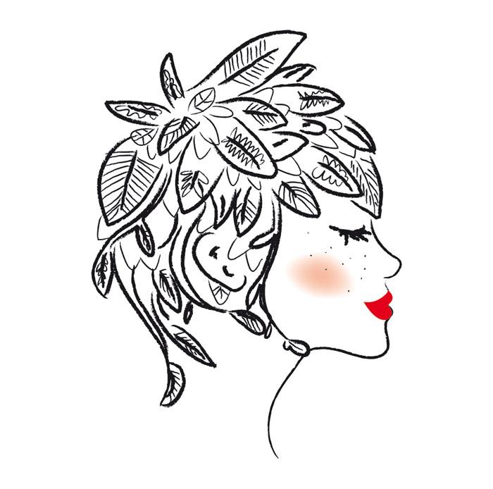 illustration-profil-de-femme-vegetal