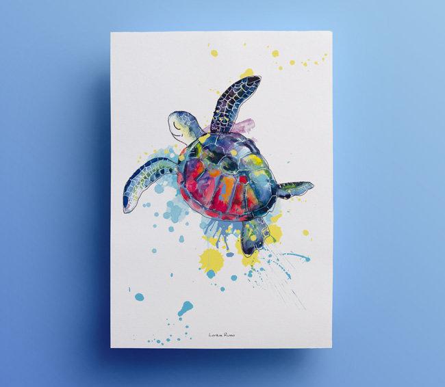 illustration aquarelle tortue