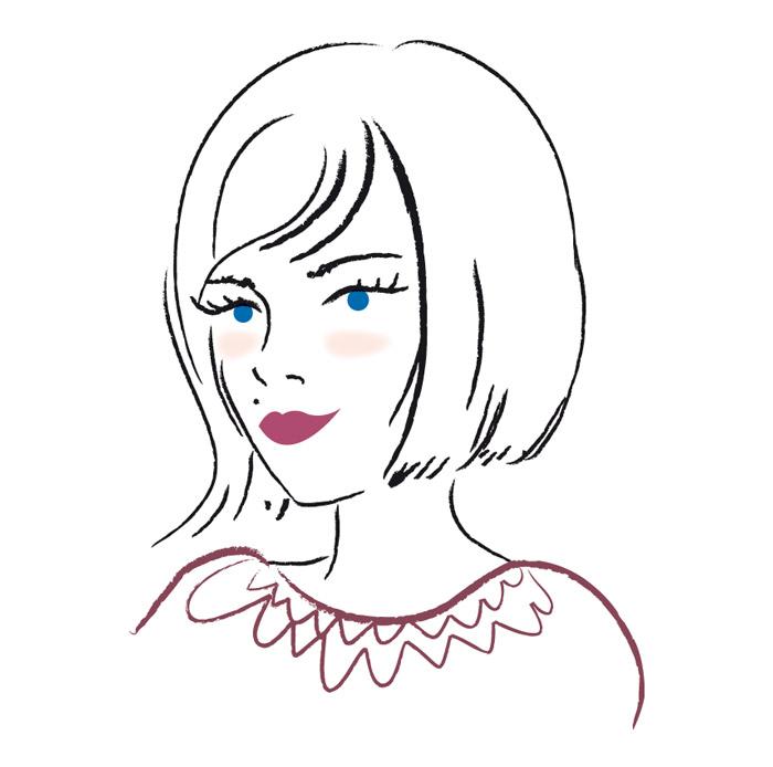 illustration jeune femme coupe au carré