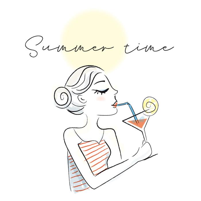 illustration c'est l'été