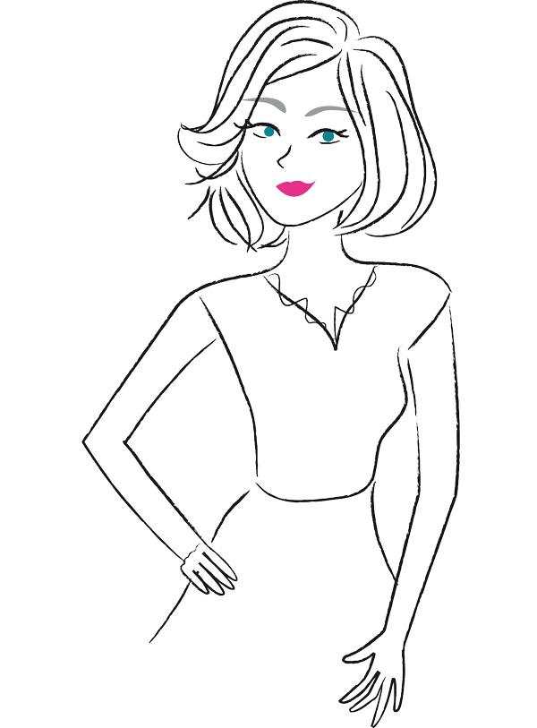 illustration femme mode