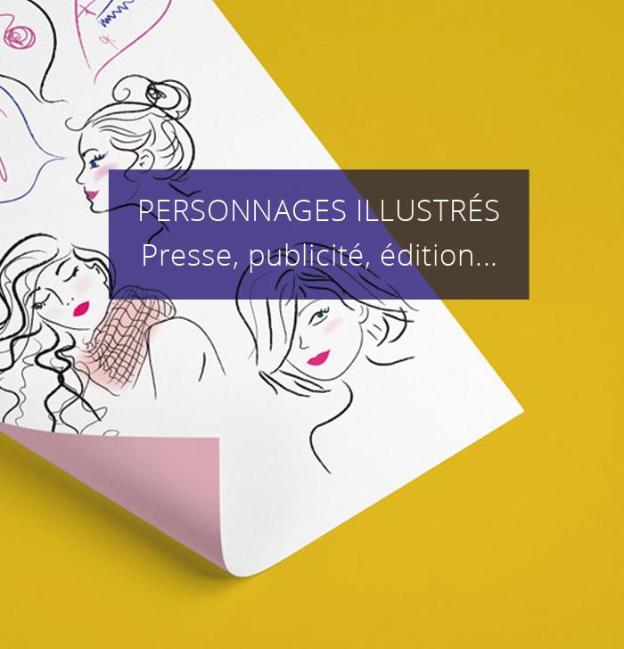 illustrations de personnages feminins
