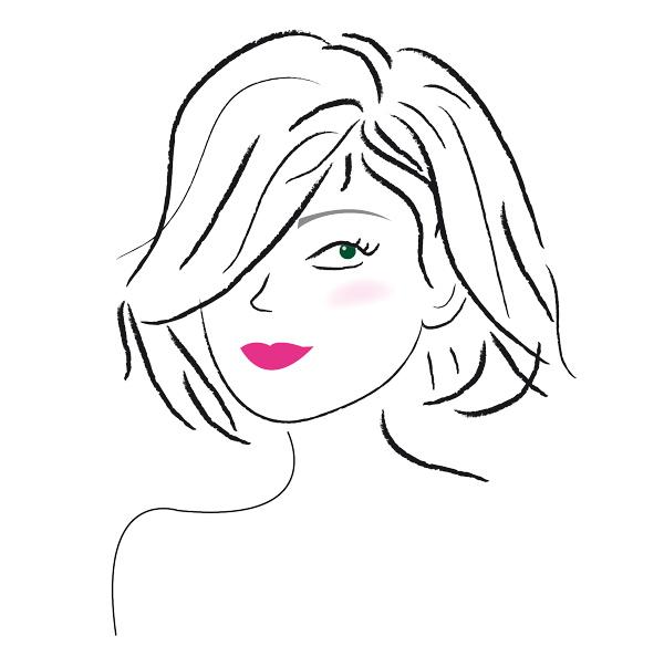 portrait femme illustration coiffure