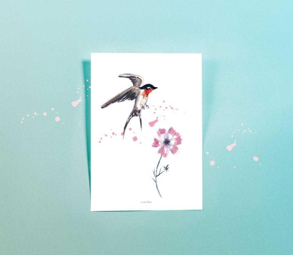 Affiche-illustration-hirondelle