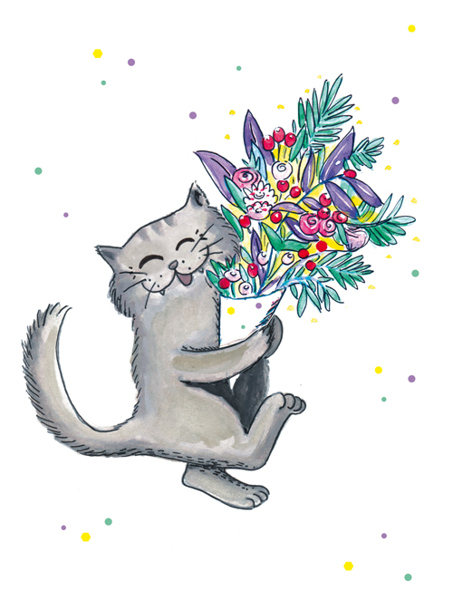 ILLUSTRATION-bouquet-de-fleur-chat