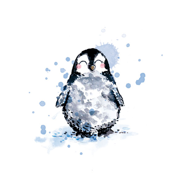 illustration aquarelle pingouin
