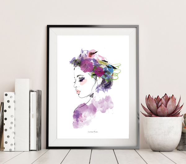 affiche decorative profil champetre