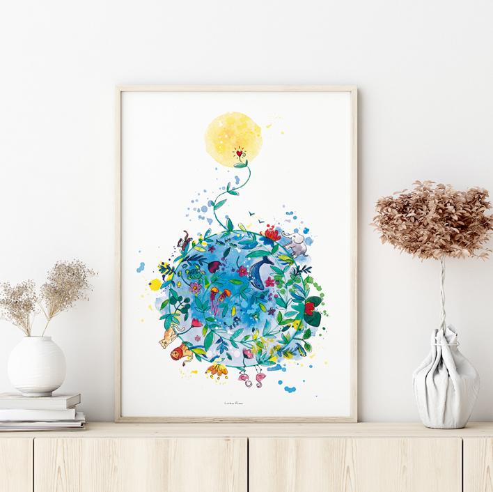 affiche planète écologie environnement