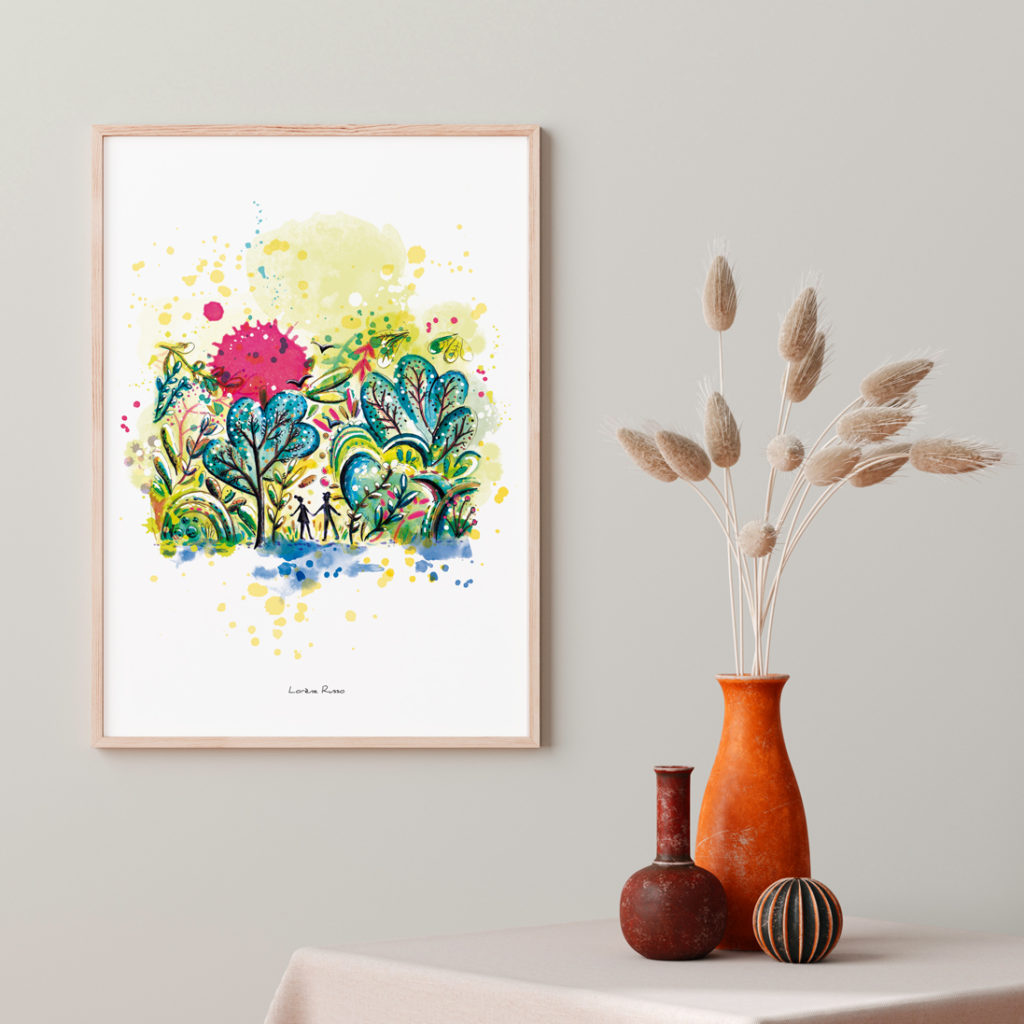affiche nature aquarelle
