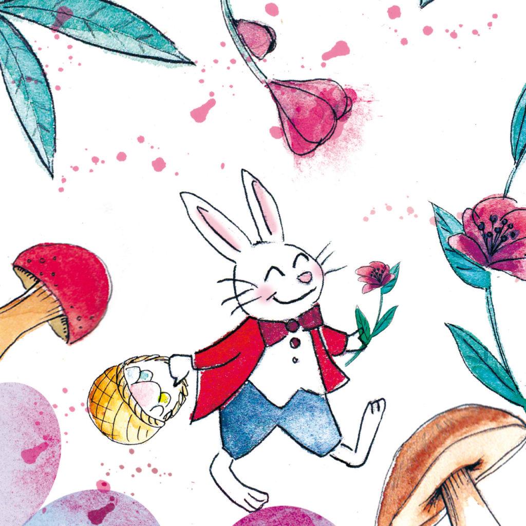 illustration lapin alice au pays de merveilles