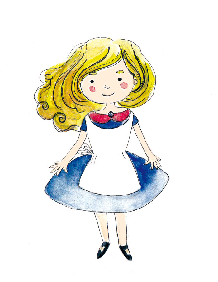 illustration personnage livre jeunesse alice