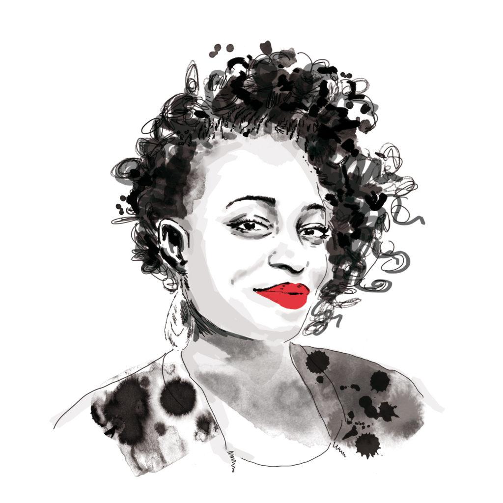 portrait noir et blanc stylisé