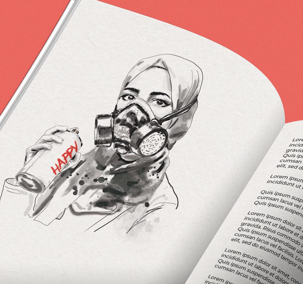 portrait stylisé illustration